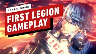 Download Astral Chain - The Very First Combat Encounter With A Legion Video