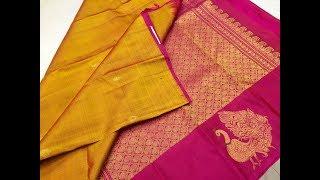 Download New Arrival! Kanjeevaram Sarees with Peacock Motifs | Million Designs | TS,TT Video