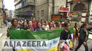 Download Gurkha protesters demand new state in India Video