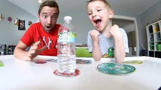 Download FATHER & SON PLAY FLIP CHALLENGE! / Bottle Flip Time! Video