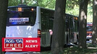 Download 14 Injured in Germany Bus Stabbing Attack - LIVE COVERAGE Video