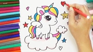 Download How to Draw a Cartoon Unicorn - Cute and Easy Video