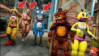 Download CAN FREDDY & CHICA HIDE FROM PIGMAN & NIGHTMARE TOY BONNIE & CHICA? (GTA 5 Mods FNAF RedHatter) Video