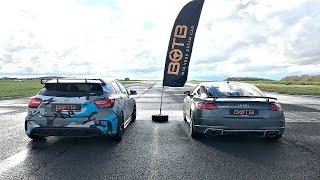 Download DRAG RACE! Mercedes A45 AMG VS AUDI TT RS! Video