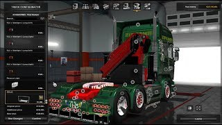 Download ETS2 1.28 Scania スカニア RJL Tuning with crane (ZIPANG Express/ ジパングエクスプレス) Video