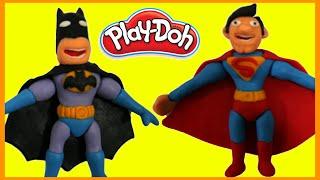 Download Batman vs Superman Superhero Battle Prank STOP MOTION Play Doh Animation Movie Clips Superheroes Video