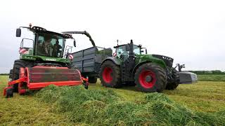 Download Holdingham Biogas 2018 Grass silage with Fendt Katana 85 and Fendt 1050 Video