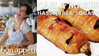 Download Carla Makes Hasselback Butternut Squash | From the Test Kitchen | Bon Appétit Video
