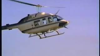 Download Accident lifting loudspeaker onto stadium roof with a Bell Long Ranger 206 Helicopter Video
