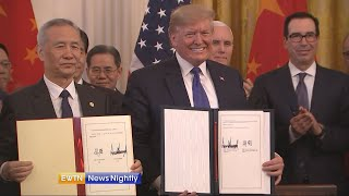Download President Trump responds to House impeachment during China trade announcement - EWTN News Nightly Video