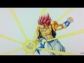 Drawing GOGETA Super Saiyan GOD