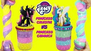 Download D.I.Y. Princess Celestia VS Princess Cadance SLIME CHALLENGE My Little Pony Do It Yourself Slime Video