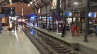 Download HO station diorama SNCF ① - TGV, high speed trains Video