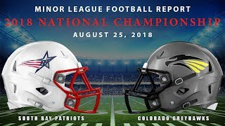 Download Minor League Football Report 2018 National Championship Video