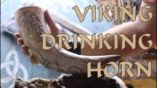 Download Hand Made Viking Drinking Horn Video