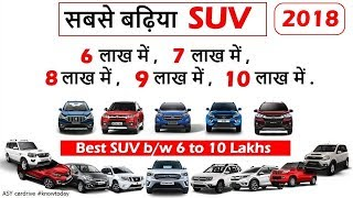 Download Best suv between 6 to 10 lakhs in india 2018 | Top suv under 10 lakhs | nexon,ecosport,wrv,vitara Video