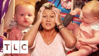 Download Grandma Mimi Can't Control the Quintuplets Shoe Shopping | Outdaughtered | S2 Episode 5 Video