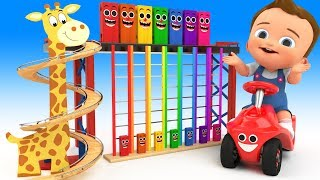 Download Learn Colors for Children with Baby Play Giraffe Wooden TumbleDown TheLadder Toy 3D Kids Educational Video