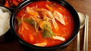 Download Spicy chicken & vegetable soup (Dakgaejang: 닭개장) Video