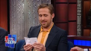 Download Ryan Gosling Asks Stephen A Lord Of The Rings Question From His Mom Video