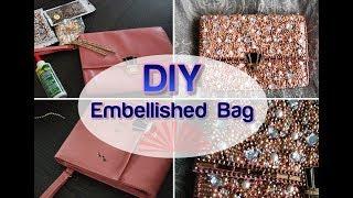 Download BLING MY BAG DIY Pearl Diamond Embellished wedding Clutch Purse Tumblr Crafts Video