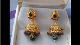 Download Latest Light Weight PURE Gold Earrings Designs| Under 5 Gram Gold Dangling Earrings Designs Video