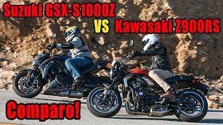 Download 2018 Suzuki GSX S1000Z vs Kawasaki Z 900RS Video