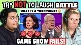 Download Try to Watch This Without Laughing or Grinning Battle: GAME SHOW FAILS | FBE Staff Reacts Video