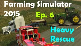 Download FS15: Heavy Rescue Ep.6 Peterbuilt Hauling Tractor Stuck In Ditch Video