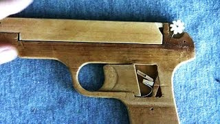 Download Structure of the rubber band gun - 2 barrel Video