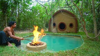 Download Build Hobbit House and inground Pool in the Jungle - real life survival minecraft Video