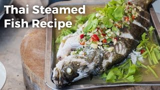 Download Thai Steamed Fish With Lime and Garlic Recipe (ปลากะพงนึ่งมะนาว) Video