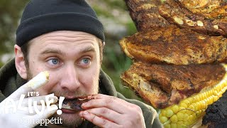 Download Brad Makes Campfire Ribs | It's Alive | Bon Appétit Video