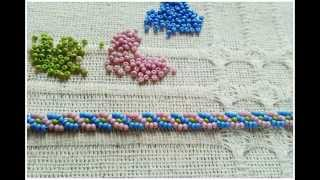 Download braid stitch bracelet beadwork tutorial - kum boncuklarla saç örgüsü modeli bileklik yapımı Video