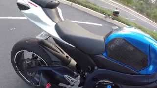 Download 2011 GSX-R 750 M4 GP EXHAUST NO BAFFLE-CAT DELETE-MJS MID PIPE- ECU FLASH-DRIVE BY @ 6:50 Video