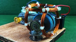 Download Engineering Free Energy Generator DC Motor With Copper Wire Coil Using Magnet New Technology Project Video