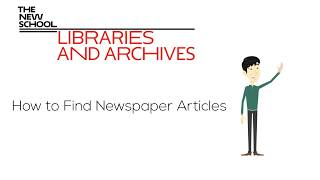 Download NEW! How to Find Newspaper Articles I The New School Libraries and Archives Video