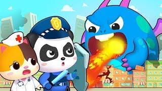 Download Hero Team vs Big Monster | Firefighter Song, Police Cartoon | Nursery Rhymes | Kids Songs | BabyBus Video