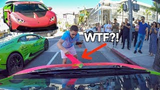 Download CRAZY Man Rips Off My LAMBORGHINI Wrap *Caught On Camera* Video