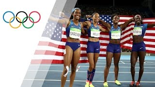 Download USA Women's 4x100m Relay wins gold Video