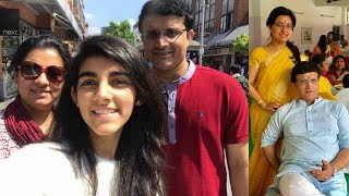 Download Sourav Ganguly Wife Dona and Daughter Sana | Sourav Ganguly Family Photos | Sourav Ganguly Birthday Video
