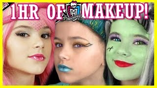 Download 1 hour of MONSTER HIGH DOLL MAKEUP TUTORIALS! | Costume, Halloween, or Cosplay! | KITTIESMAMA Video