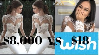 Download $18 Wedding Dress From Wish: What I got (Org Price $8,000) Video