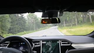 Download Tesla AP2 17.26.76 on local winding road Video