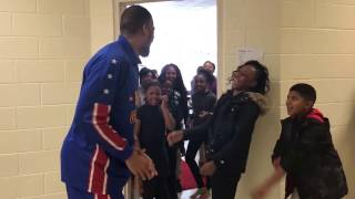 Download Surprise Classroom Visit | Harlem Globetrotters Video
