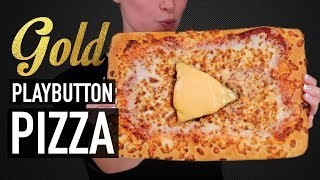 Download DIY GOLD PLAY BUTTON PIZZA - VERSUS Video