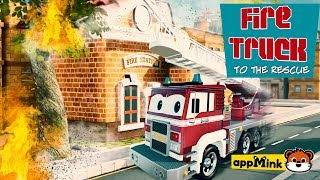 Download #appMink Rescue & Action Cartoons with Fire truck, Police Car, Monster truck and Garbage truck Video