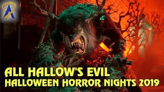 Download All Hallow's Evil Scare Zone at Universal Studios Hollywood's Halloween Horror Nights 2019 Video