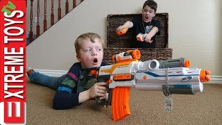 Download Sneak Attack Squad Training! Nerf Battle Surprise! Video