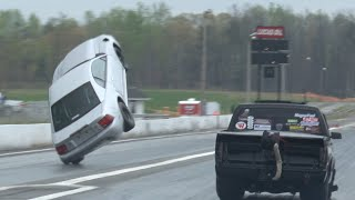 Download Turbo Mustang Almost Backflips at Piedmont Dragway!! Video